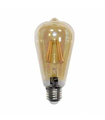 Λαμπτήρας ADELEQ LED COG ΑΒΟΚΑΝΤΟ ST64 Φ64 ΜΕΛΙ Ε27 6W ΘΕΡΜΟ 2200K (13-2764600)