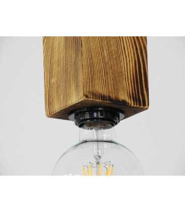 Κρεμαστό φωτιστικό οροφής από ξύλο και σχοινί 208