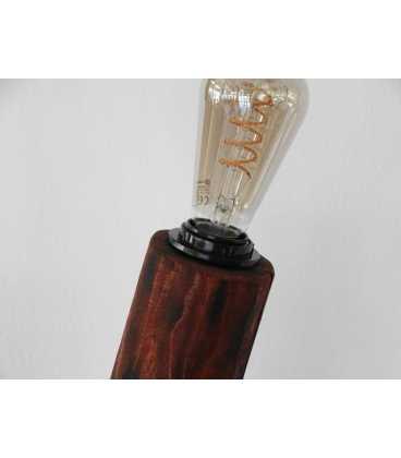 Φωτιστικό δαπέδου από ξύλο, μέταλλο και σχοινί 209