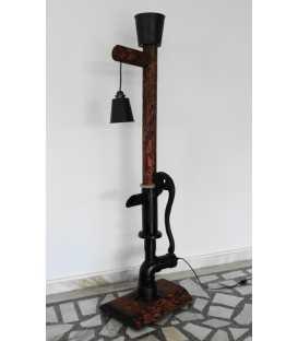 Wood, metal and rope floor lamp 214