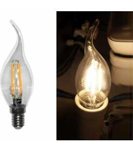 Bulb Led COG E14 Clear Candle With Tail 230V 6W Warm White (13-14016002)