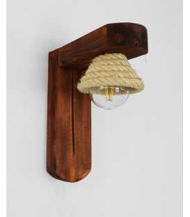 Φωτιστικό τοίχου απλίκα από ξύλο και σχοινί 259