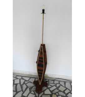 Wood, metal and rope floor lamp 263