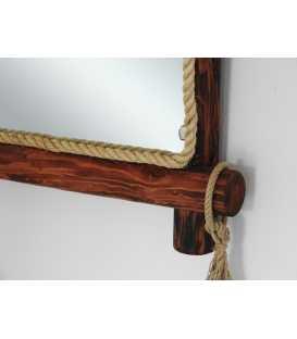 Καθρέφτης τοίχου με πλαίσιο από ξύλο και σχοινί 202