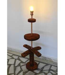 Wood and metal floor lamp 282