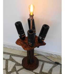 Φωτιστικό δαπέδου από ξύλο και μέταλλο 283
