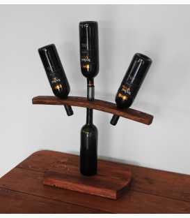 Ξύλινη βάση για κρασί τριών θέσεων 286