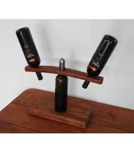 Weinflaschenhalter aus Holz für zwei Flaschen 287