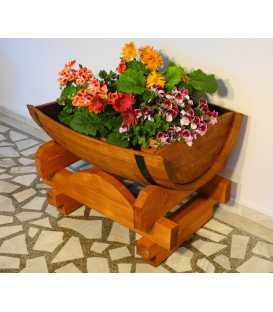Γλάστρα από ξύλινο βαρέλι κρασιού 022