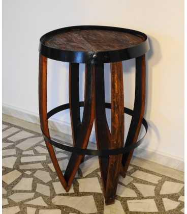Wooden wine barrel table