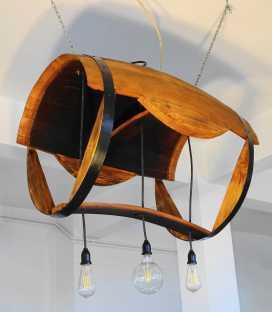 Holz und Metal hängende Deckenleuchte 030