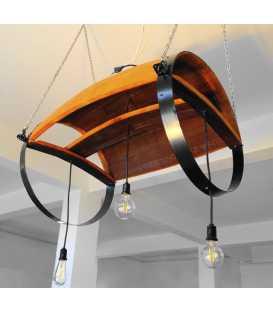 Holz und Metal hängende Deckenleuchte 031