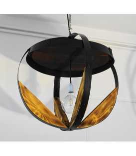 Holz und Metal hängende Deckenleuchte 019