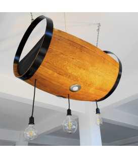 Κρεμαστό φωτιστικό οροφής ξύλινο/μεταλλικό 044