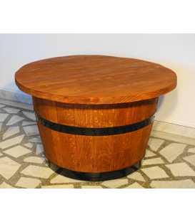 Τραπέζι από ξύλινο βαρέλι κρασιού