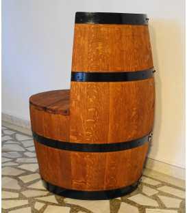 Wine barrel armchair