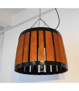 Holz und Metal hängende Deckenleuchte 048