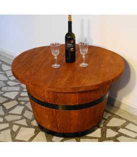 Τραπέζι από ξύλινο βαρέλι κρασιού 046