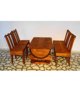 Wine barrel table set with two chairs and a sofa 054