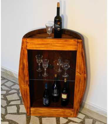 Τραπέζι-μπαράκι από ξύλινο βαρέλι κρασιού 055