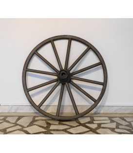 Old iron wheel sandblasted 057