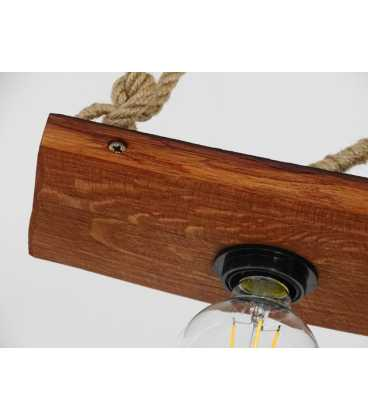 Wood and rope pendant light 076