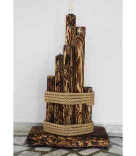 Holz und Seil Stehleuchte 103