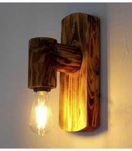 Ξύλινο φωτιστικό τοίχου 123