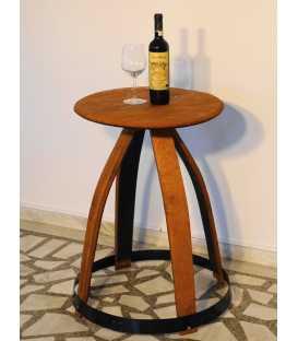 Βοηθητικό τραπεζάκι από ξύλινο βαρέλι κρασιού 009