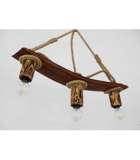 Holz und Seil hängende Deckenleuchte 176